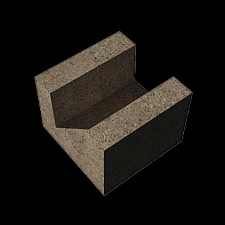 Keramzitiniai blokeliai Fibo U formos