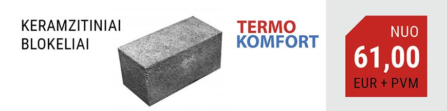 keramzitiniai blokeliai termokomfort  kaina